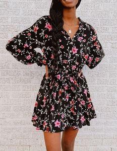Free People Lighten Up Mini Dress in Black
